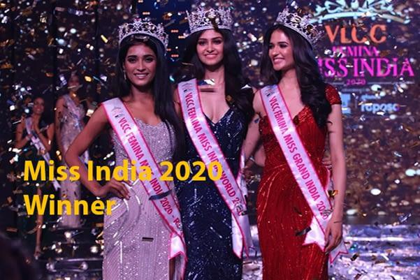 Miss India 2020 Winner